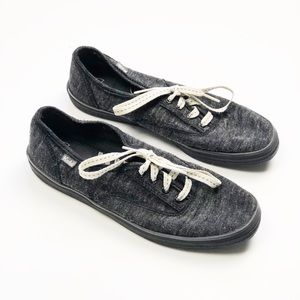KEDS grey wool sweater knit shoes sneakers lace up